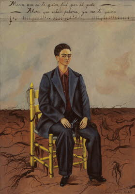 Self-Portrait with Cropped Hair, Frida Kahlo